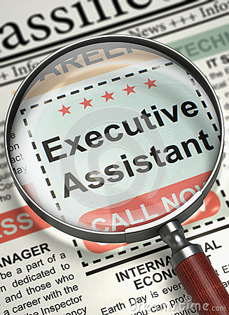 We are Hiring Executive Assistant. 3D.
