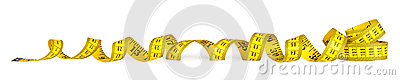 Yellow metric measuring tape