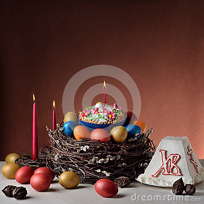 Traditional Russian-Orthodox Easter Paschal food