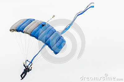 Air force sky diver parachute