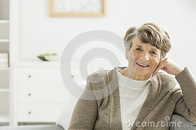 Happy older woman