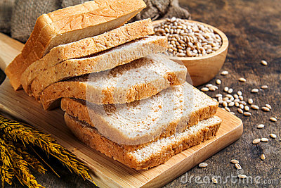 Brown bread and white bread