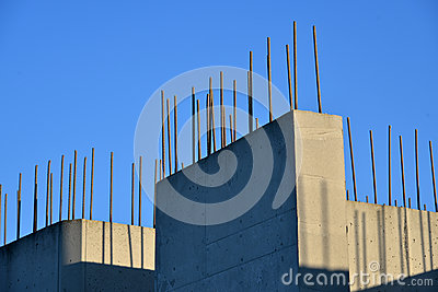 Wall of reinforced concrete