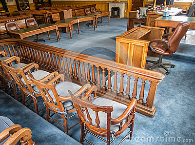Courtroom, Storey County courthouse