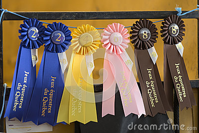 Group of ribbons for the winners