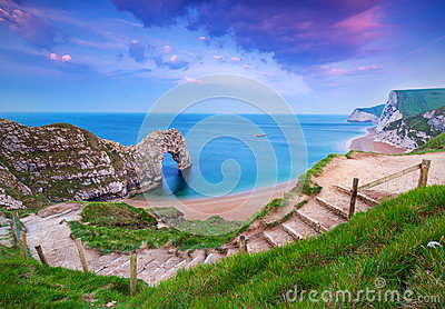 Jurassic Coast of Dorset with Durdle Door