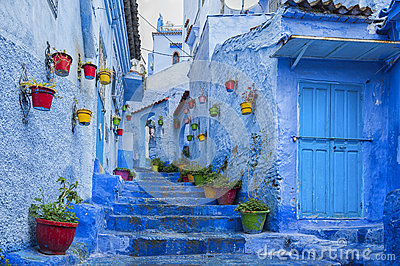 The beautiful blue medina of Chefchaouen, the pearl of Morocco