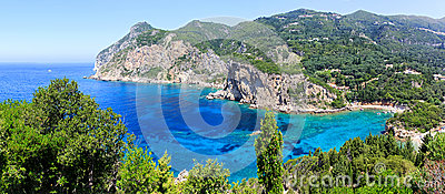 Corfu island and Ionian sea