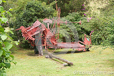 Old agriculture machinery at the German Museum at Frutillar, Chile