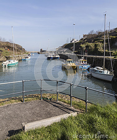Viewpoint at Amlwch Port on Anglesey, Wales, UK.
