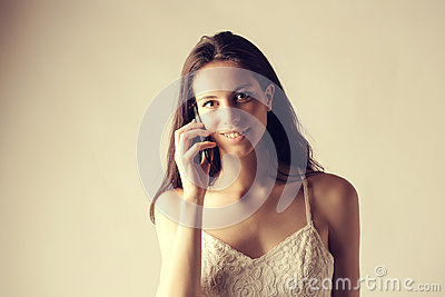 Girl making a call