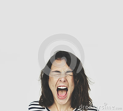Woman Face Scream Expression Emotion
