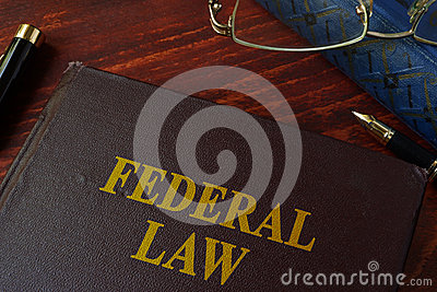 Book with title federal law.