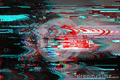 Glitch background. Computer screen error. Digital pixel noise abstract design. Photo glitch. Television signal fail