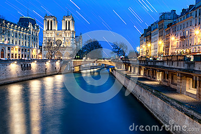 Star Trail at Notre Dame