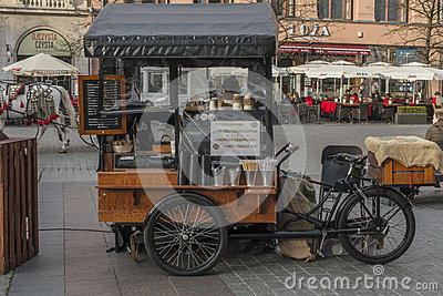 Sale of coffee in Krakow