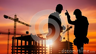 stock image of commercial construction concept