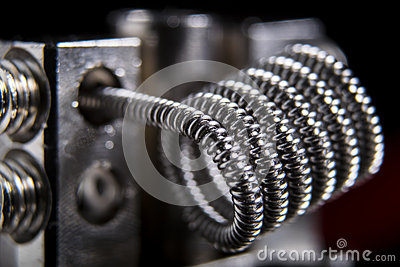 Vaping clapton coil for electronic cigarette or e cig.