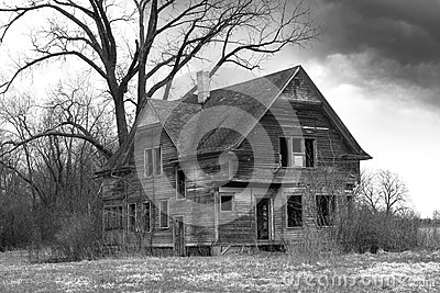 Old Farmhouse, Haunted House, Desolate