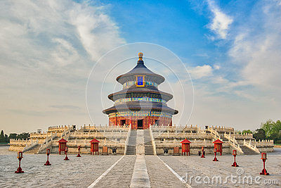 Hall of Prayer for Good Harvests in Temple of Heaven in Beijing