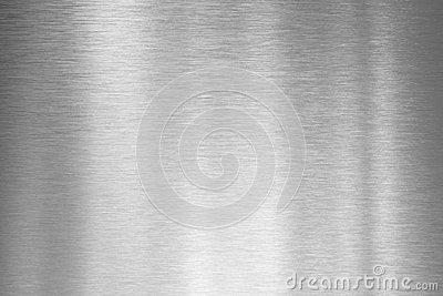 Brushed silver metal plate