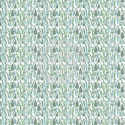 Beautiful sophisticated tender gentle graphic abstract artistic green grass pattern