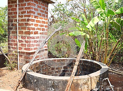 A Water Well - Dug Well - in an Indian Village