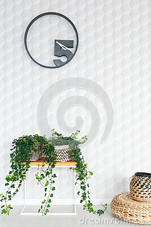 Quilted white wall