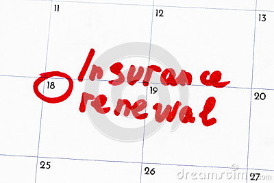 `insurance renewal ` is the text written on the calendar in red marker