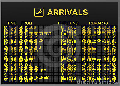 Arrivals Board