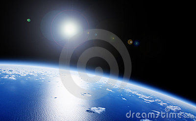 Planet Earth Space View