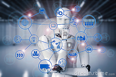 Android robot with industrial network