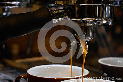 Making espresso coffee