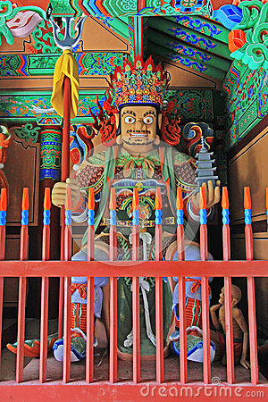 Buddhist Four Great Heavenly Kings Statue