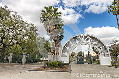 NEW ORLEANS - FEBRUARY 2016: Armstrong Park on a beautiful day.