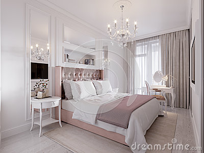 Spacious and Bright Modern Contemporary Classic Bedroom