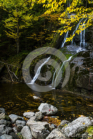 Moss Glen Falls - Waterfall and Fall / Autumn Colors - Vermont