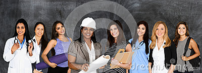 stock image of women in the work force