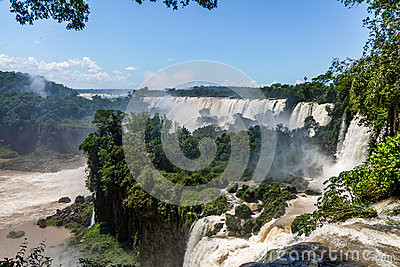 Iguazu Falls view from argentinian side - Brazil and Argentina Border