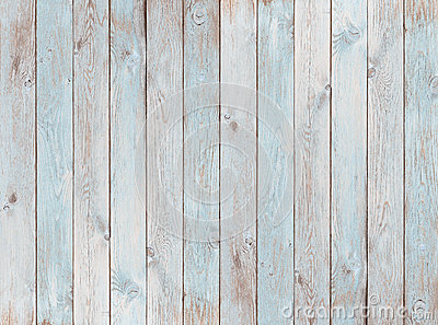 Pale blue wood planks texture or background