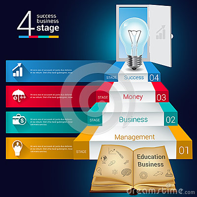 Education and open book 3D Modern digital template vector