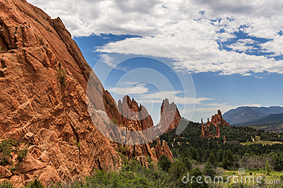Beautifull red sandstone rock formation in Roxborough State Park in Colorado, near Denver