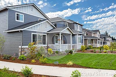 Tract Homes in New Subdivision