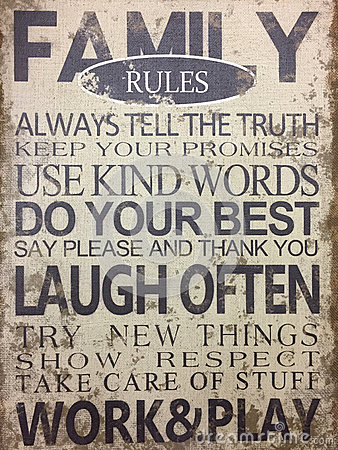 An useful tips family rules