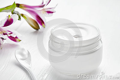 Night care cosmetic cream facial skincare beauty treatment clinic balm lotion therapy, anti aging rejuvenate