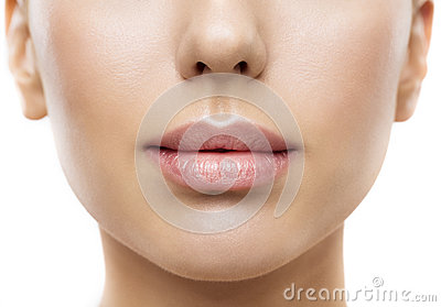 Lips, Woman Face Mouth Beauty, Beautiful Skin Full Lip Closeup