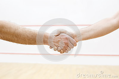 Handshaking before match