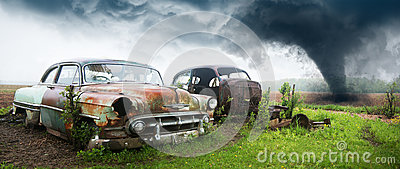 Old Classic Car, Junk Yard