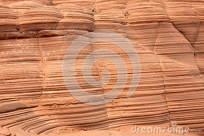 Stratified rock