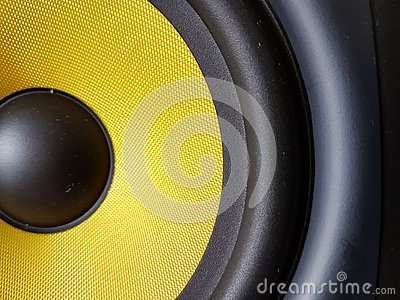 Yellow half sound woofer